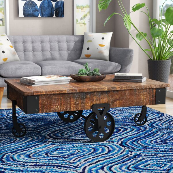 Gordillo Coffee Table with Tray Top by Mercury Row