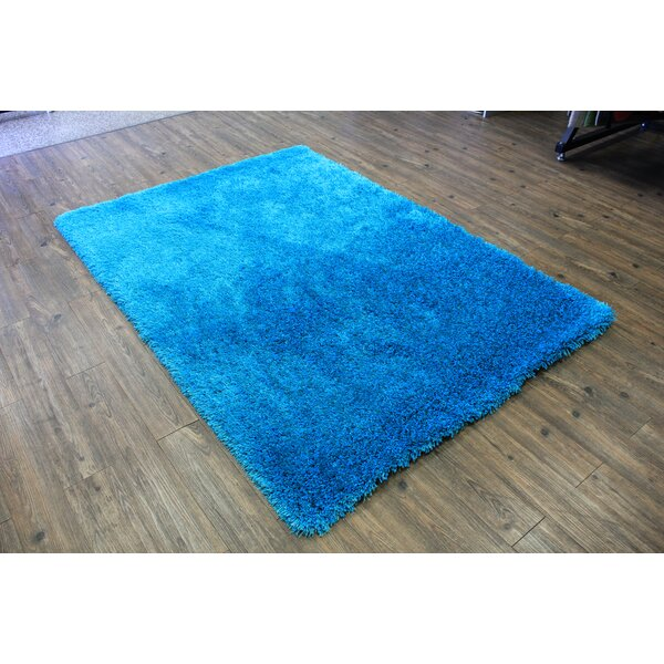 One-of-a-Kind Friesen Hand-Tufted Turquoise Area Rug by Ebern Designs