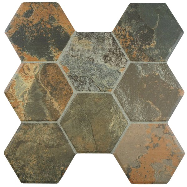 Terrene 15.25 x 16 Ceramic Field Tile in Magma by EliteTile