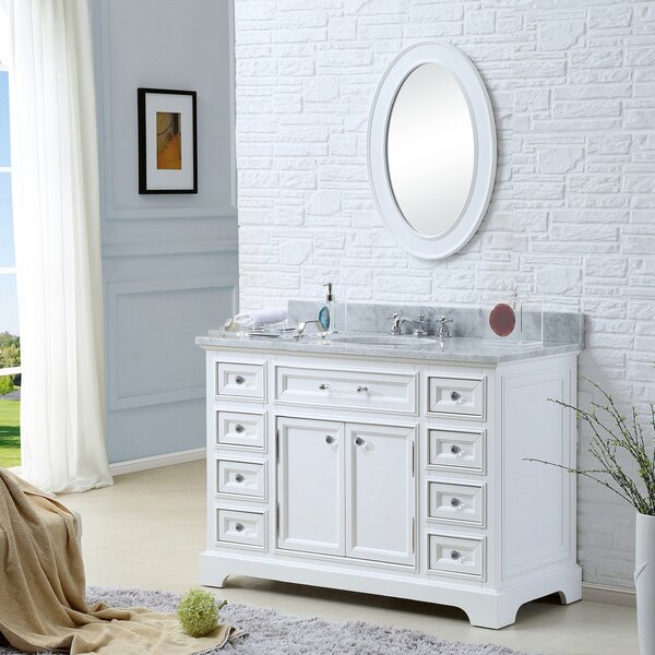 Bergin 48 Single Sink Bathroom Vanity Set with Mirror and Faucet by Three Posts