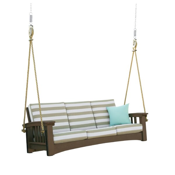 Omar Sofa Rope Porch Swing by Rosecliff Heights