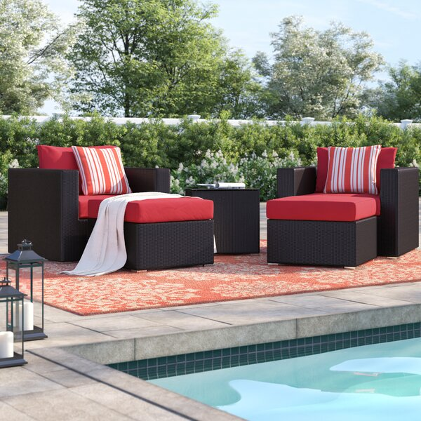 Brentwood 5 Piece Rattan Conversation Set with Cushions by Sol 72 Outdoor