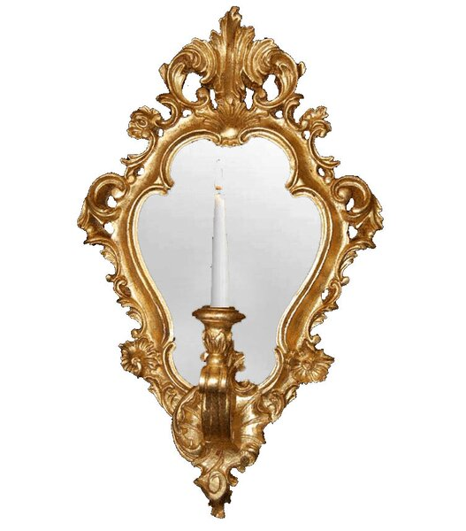 Regence Candle Sconce with Mirror by Hickory Manor