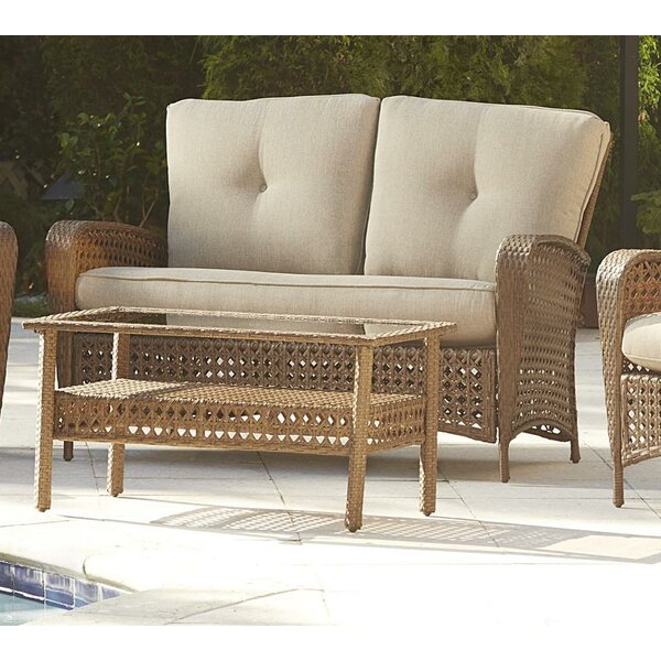 Edwards 2 Piece Rattan Sofa Seating Group with Cushions Highland Dunes HIDN1669