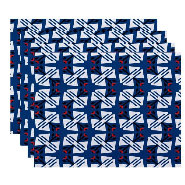Willa Jodhpur Geometric Print Placemat (Set of 4) by Bungalow Rose