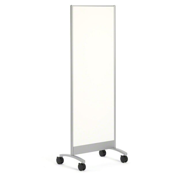 Groupwork Mobile Free-Standing Whiteboard by Steel