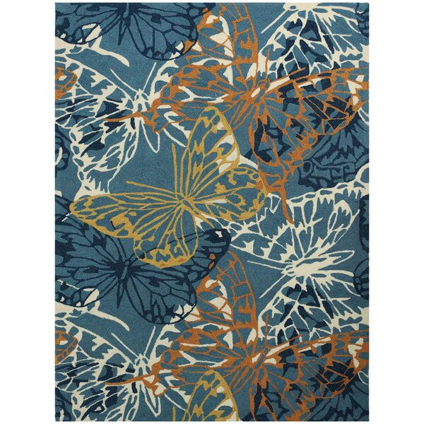 Arrellano Blue Indoor/Outdoor Area Rug by Zoomie Kids
