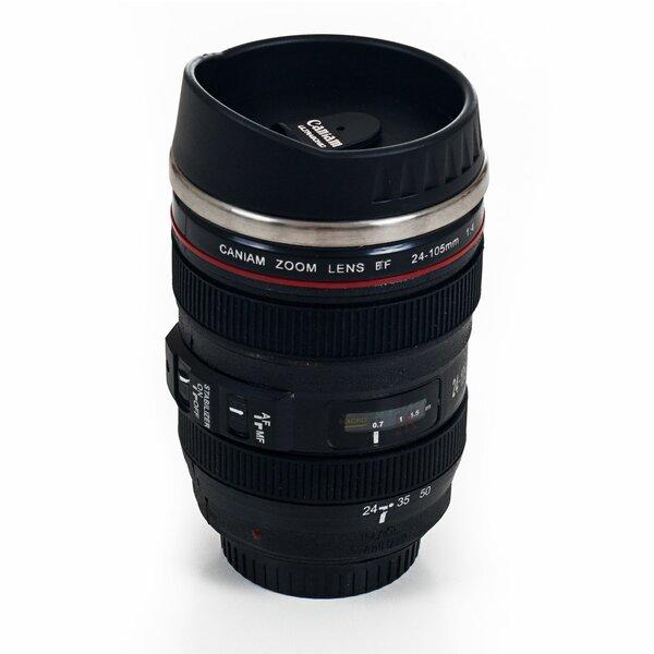 Camera Lens Coffee 12 oz. Mug with Lid by Whetstone