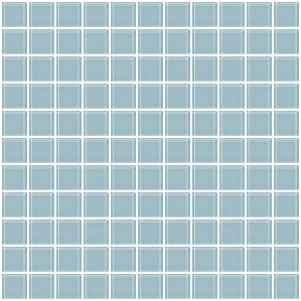 1 x 1 Glass Mosaic Tile in Robins Egg Blue by Susan Jablon