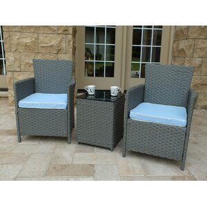 Rockleigh 3 Piece Conversation Set with Cushions