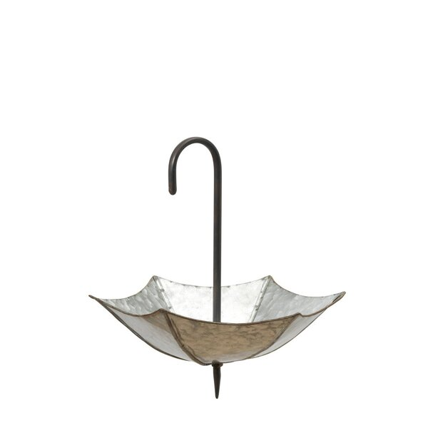 Hankerson Metal Galvanized Umbrella Planter by August Grove