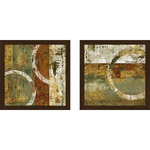 'Peeling Paint II' 2 Piece Framed Acrylic Painting Print Set Under Glass by Zipcode Design