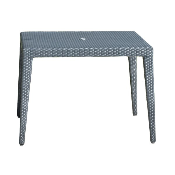 Onyx Square Wicker Dining Table with Glass by Panama Jack Outdoor