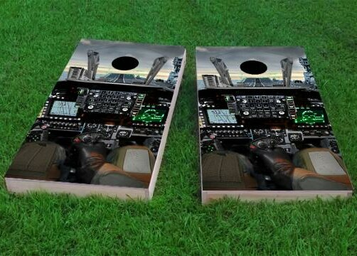 Cockpit Cornhole Game (Set of 2) by Custom Cornhole Boards