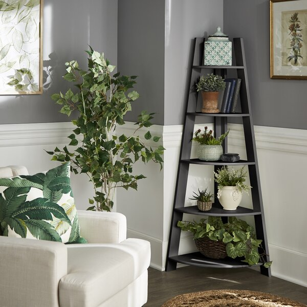 Corner Bookcase By Kingstown Home