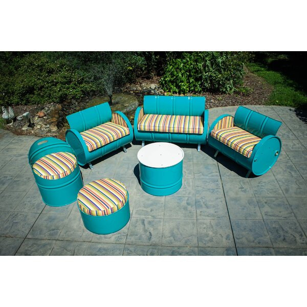 Karolina 6 Piece Sunbrella Sofa Set with Cushions by Latitude Run