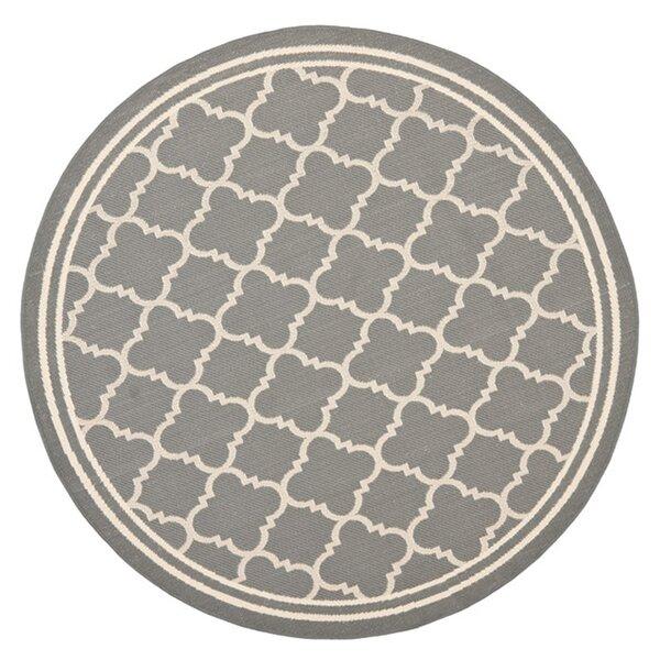 António Geometric Flatweave Anthracite/Beige Indoor / Outdoor Area Rug