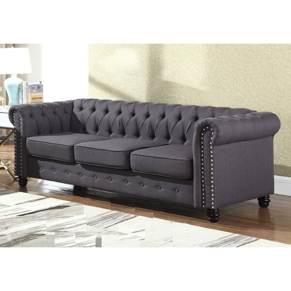 Excellent Quality Bowley Nailhead Living Room Chesterfield Sofa by Alcott Hill by Alcott Hill