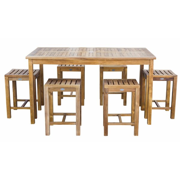 Truett Patio 7 Piece Teak Dining Set by Highland Dunes