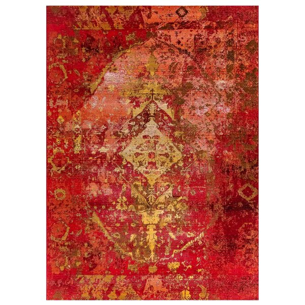 Michaella Kermin Red Indoor/Outdoor Area Rug By World Menagerie