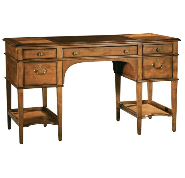 Talley Leather Top Leg Executive Desk by Astoria Grand