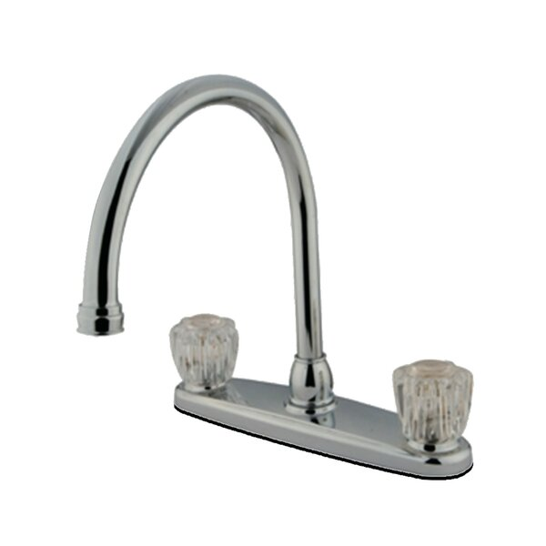 Centerset Double Handle Kitchen Faucet by Kingston Brass Kingston Brass