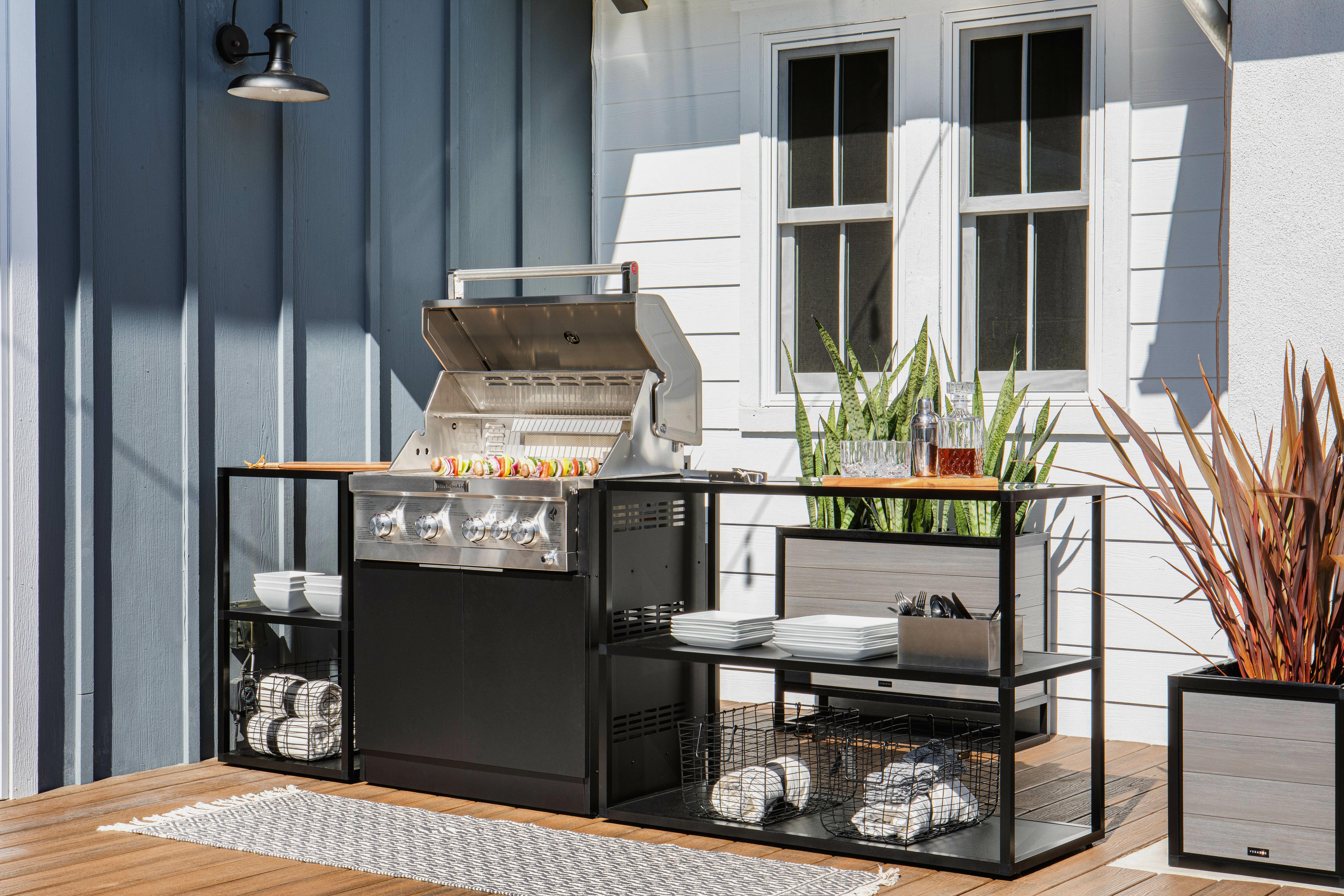 Veradek Outdoor Kitchen Series 3 Piece Modular Outdoor Kitchens Grill Not Included Reviews Wayfair