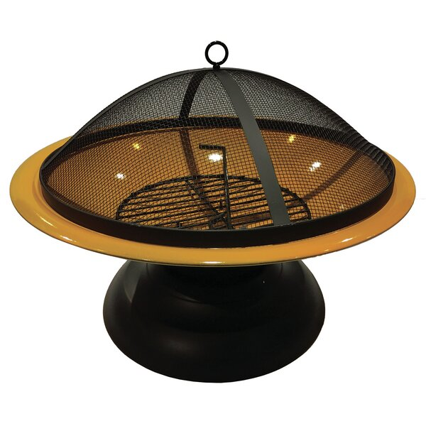 Vesta Steel Wood Burning Fire Pit by World Source Partners