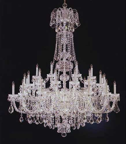 Olde World 45-Light Candle Style Tiered Chandelier By Schonbek