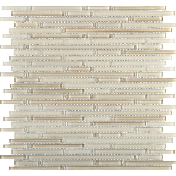 Infinity Random Sized Glass Mosaic Tile in Natural by Emser Tile