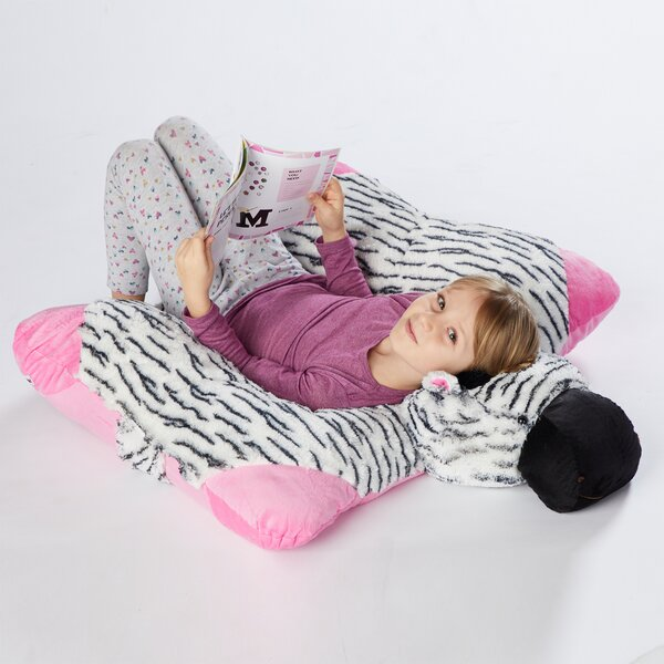 Jumboz Zippity Zebra Plush Floor Pillow by Pillow Pets