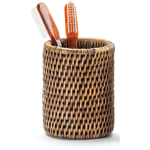 Efren Rattan Toothbrush Holder by Mistana
