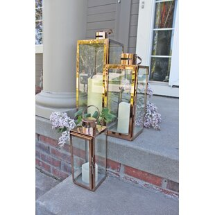 Inexpensive 3 Piece Metal Lantern Set By Mercer41