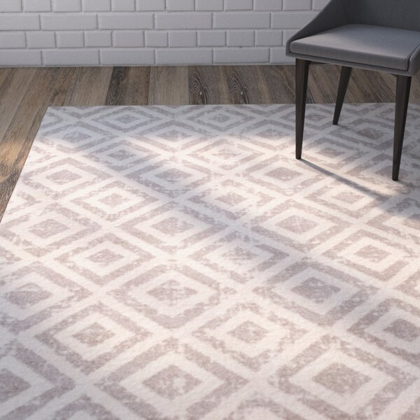 Amelius Ivory/Mauve Area Rug by Wrought Studio