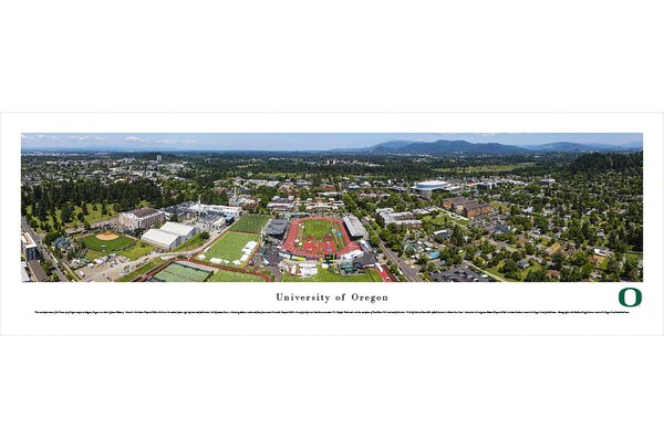 NCAA Oregon, University of - Aerial by James Blakeway Photographic Print by Blakeway Worldwide Panoramas, Inc