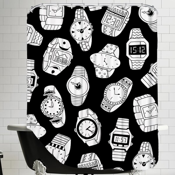 Watches Shower Curtain by East Urban Home