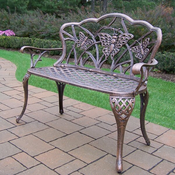 Butterfly Aluminum Garden Bench by Oakland Living