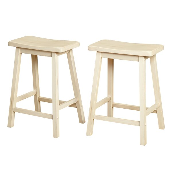 Wooden 24 Bar Stool (Set of 2) by Gracie Oaks
