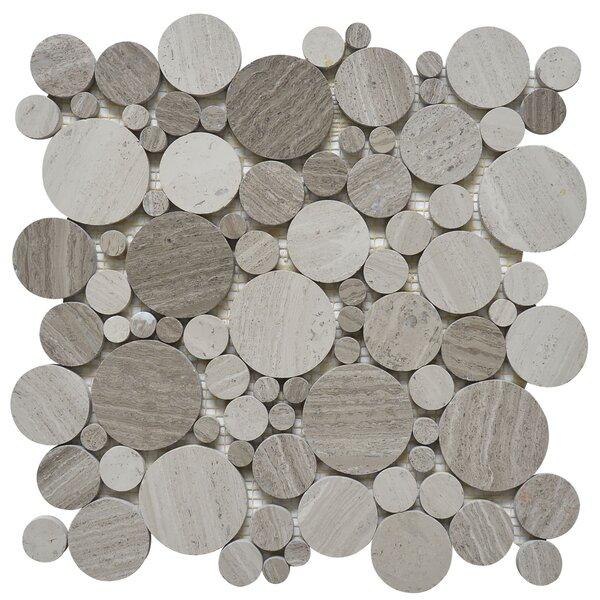 Bolle Random Sized Marble Mosaic Tile in White Oak by Matrix Stone USA