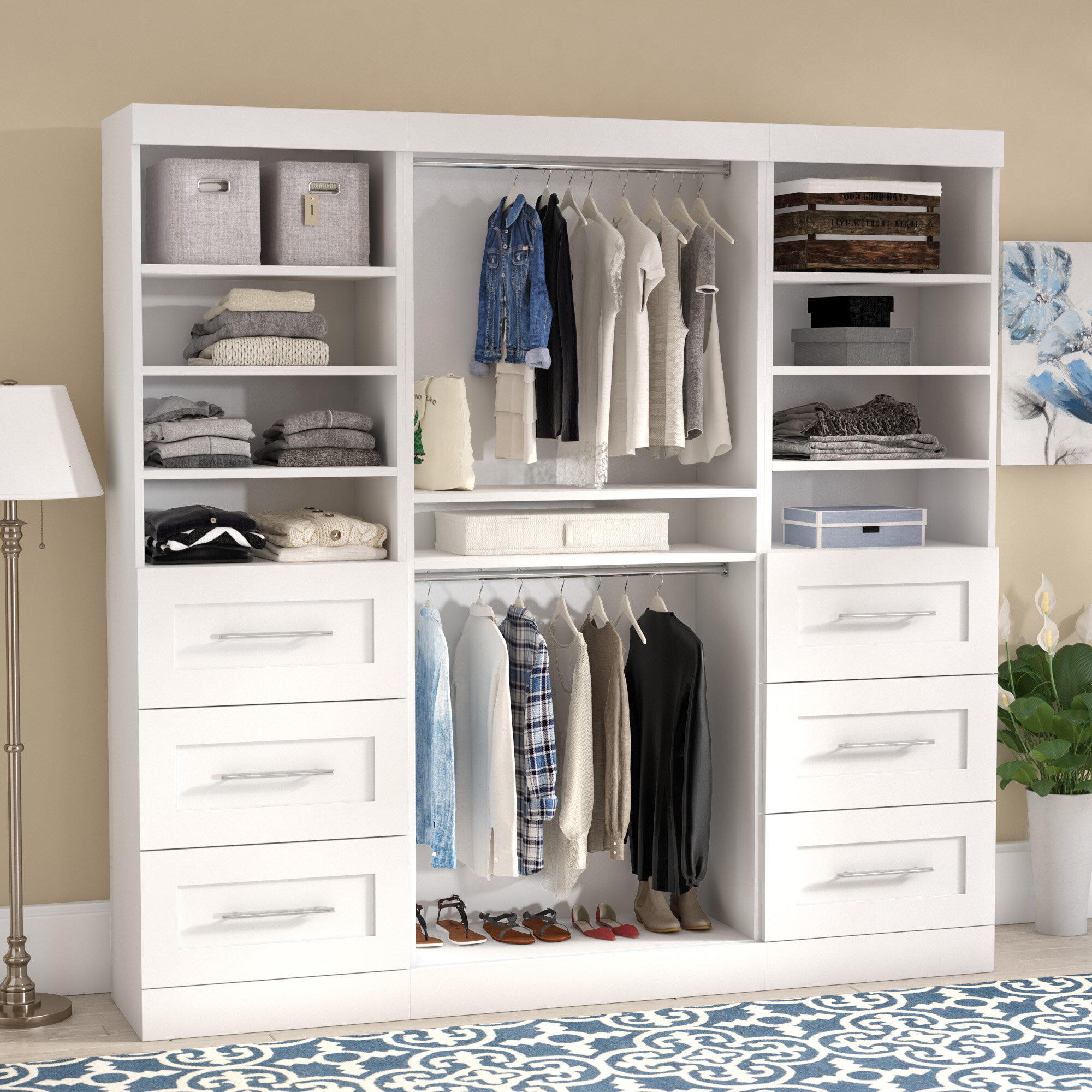 Navarro 85 8 W Closet System