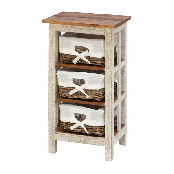 Nightingale Antiqued Rattan 3 Drawer Accent Chest by August Grove