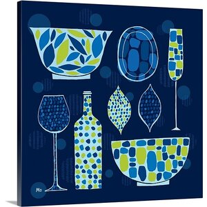'Spotted Kitchen IV' by Michael Mullan Graphic Art on Wrapped Canvas by Great Big Canvas