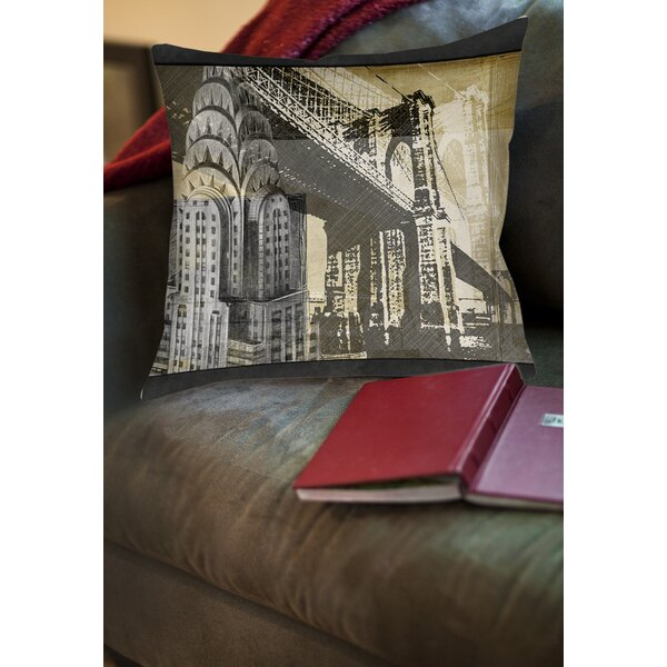 Metropolitan Collage 1 Printed Throw Pillow by Manual Woodworkers & Weavers