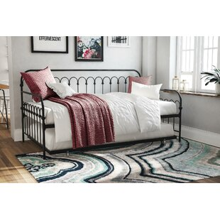 Bright Pop Metal Twin Daybed with Trundle