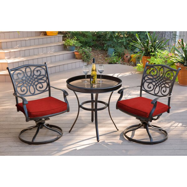 Revell Traditions Swivel 3 Piece Bistro Set By Astoria Grand