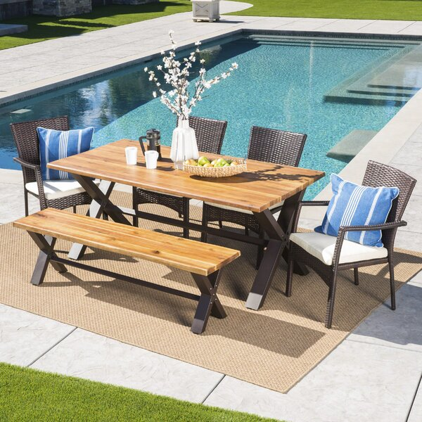 Polizzi 6 Piece Dining Set with Cushions by 17 Stories