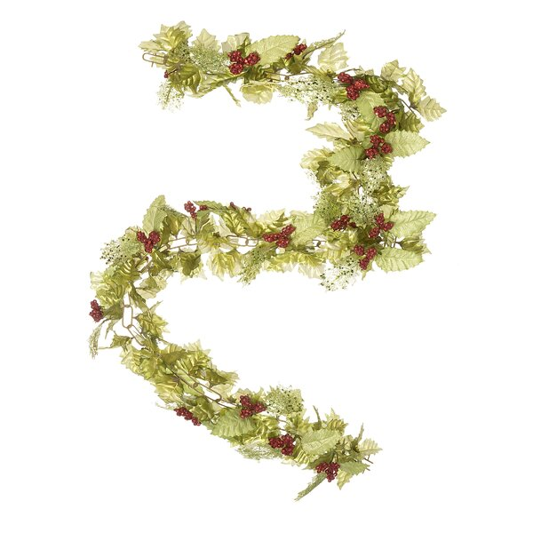 Holly Leaf Chain Garland by The Holiday Aisle