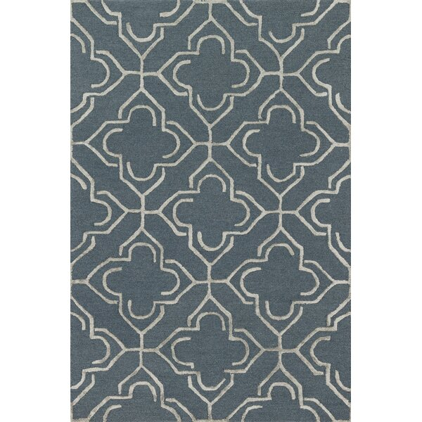 Kirkbride Hand-Tufted Slate/Taupe Area Rug by Charlton Home