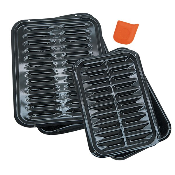 5 Piece Heavy Duty Broiler Pan Set by Range Kleen