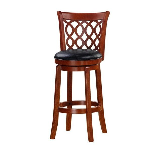 Linderman 30 Swivel Bar Stool by Alcott Hill